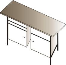 stół warsztatowy  dwustanowiskowy 2000x750x900