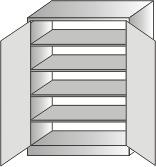 szafa narzędziowa 2000x970x600 4-półki