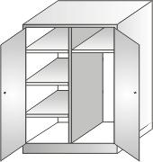 szafa gospodarcza 2000x900x500 4 półki