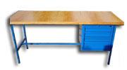 stół  warsztatowy   1500x750x900  4 szuflady