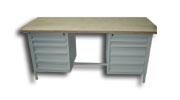 stół  warsztatowy  2000x750x900 2x4 szuflady