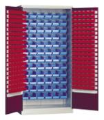 szafa z plastikowymi  pojemnikami 1000x970x440