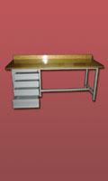 stół  warsztatowy  2000x750x900 z 4 szufladami