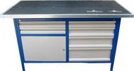 stół  warsztatowy 1500x750x900 6 szuflad+szafka