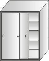 szafa narzędziowa 2000x1400x500 drzwi przesuwane
