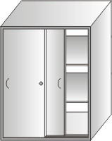 szafa narzędziowa 1000x800x500 drzwi przesuwane