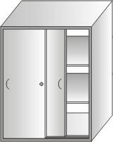 szafa narzędziowa 1000x900x500 drzwi przesuwane