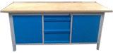 stół warsztatowy 2000x750x900 z 3 szafkami