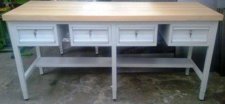 stół warsztatowy 2000x600x900  blat bukowy 50 mm