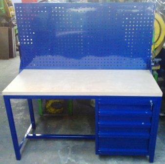 stół warsztatowy 1500x600x750 z nadbudową perforow
