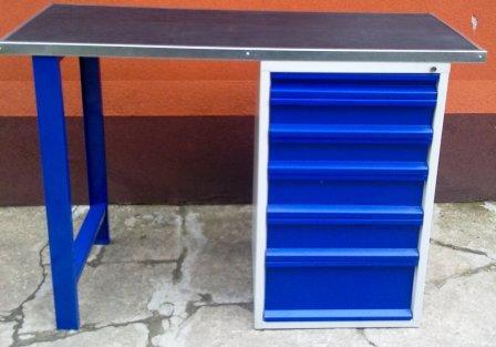 stół warsztatowy 1500x600x1030 6-szuflad