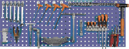 tablica perforowana na narzędzia