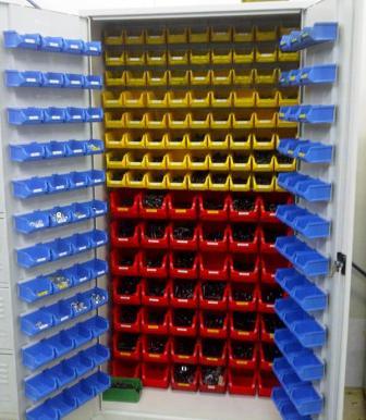 szafa narzędziowa 2000x1000x500 z pojemnikami