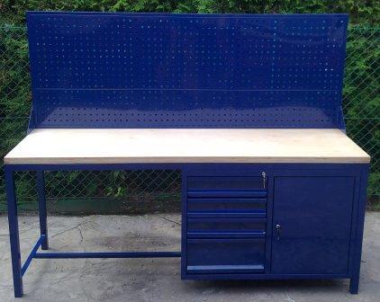 stół warsztatowy 2000x600x900 z nadbudową perforow