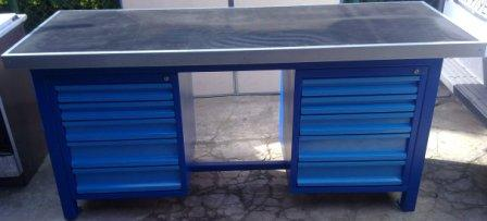 stół  ciężki 2000x750x900 10 szuflad
