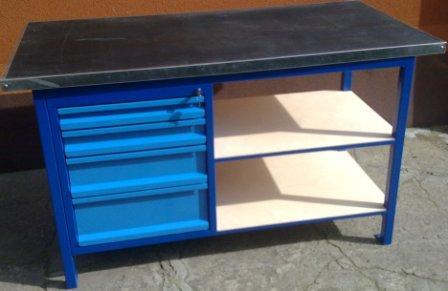 stół warsztatowy 1500x750x900 z 4 szufladami
