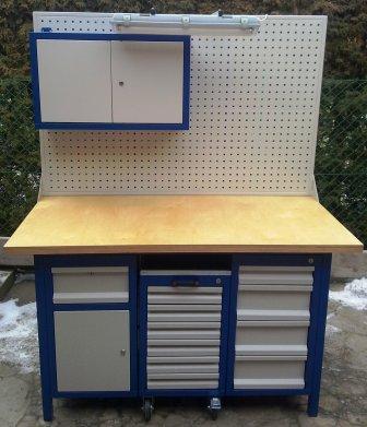 stół warsztatowy 1500x750x850 z nadbudową