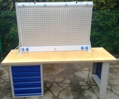 stół warsztatowy 2000x750x900 6szuflad + nadbudowa
