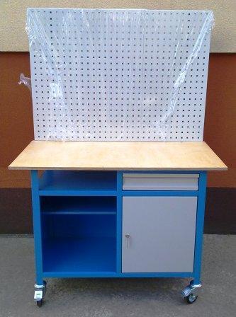 stół mobilny z tablicą i szufladą 1200x600x900