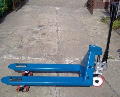 wózek paletowy  2500 kg 1150 mm z wagą