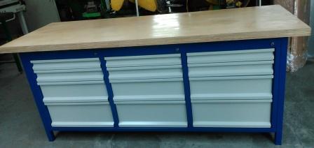stół warsztatowy 2000x750x900 12 szuflad