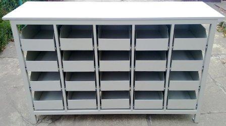 stół warsztatowy 1700x600x1050 20 szuflad
