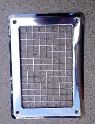 kratka wentylacyjna chromowana 245x175