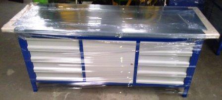 stół warsztatowy 2000x750x900  2x4 szuflady+1xszaf