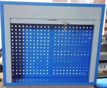 szafa narzędziowa wisząca z żaluzją 800x800x250
