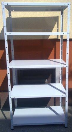 regał metalowy 1700x750x300 5 półek/30 kg  biały